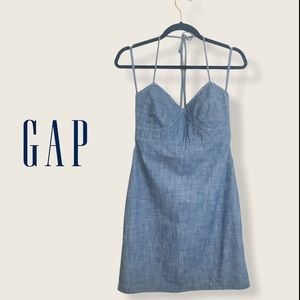 GAP Jean Denim Halter Dress